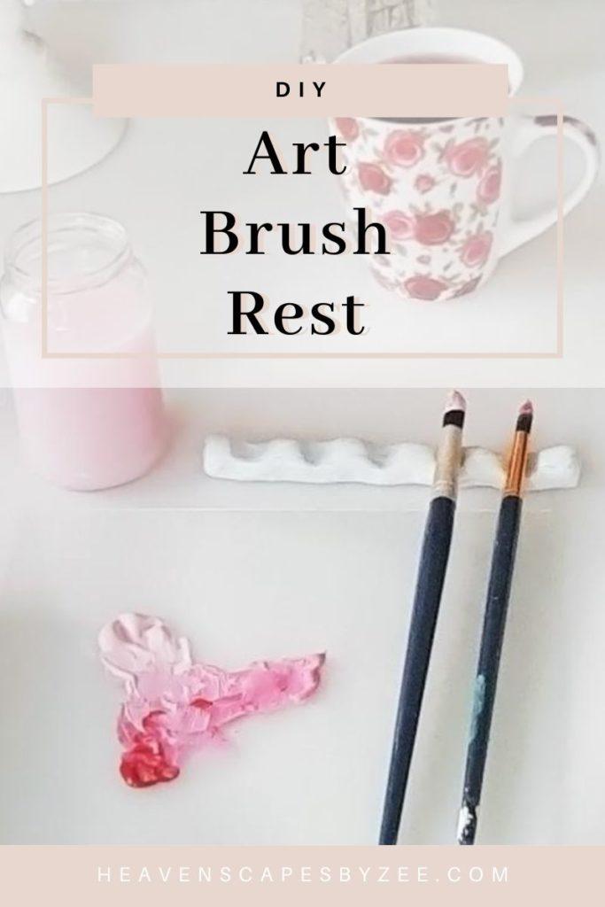 DIY Art Brush Rest