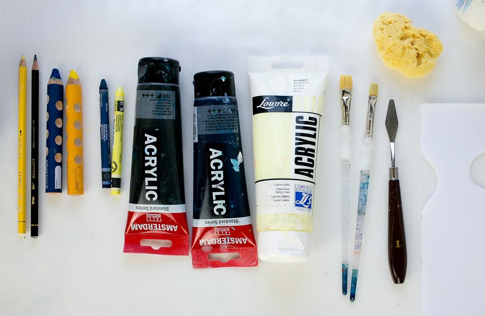 Art Journal 1 - art supplies