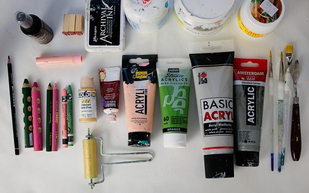 Art Journal 2 - Mixed Media Painting - art supplies