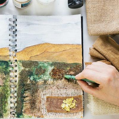 Art Journal 3 – Natural Mixed Media Painting