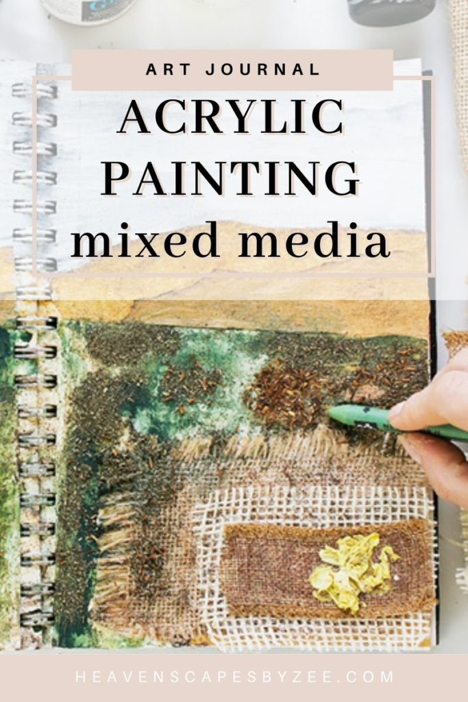 Art Journal 3 - Natural Mixed Media Painting