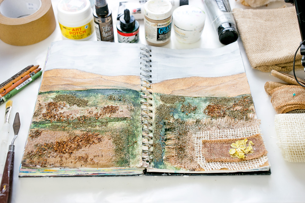 Art Journal 3 - Natural Mixed Media Painting - finished