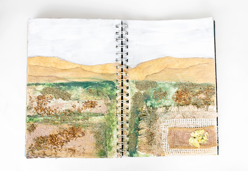 Art Journal 3 - Natural Mixed Media Painting - finally finished